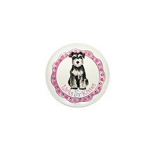 Miniature Schnauzer Valentine Mini Button (10 pack