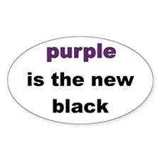 Purple New Black Oval Decal