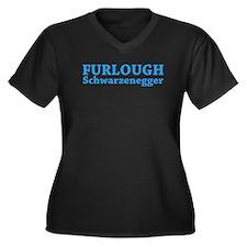 Furlough Schwarzenegger Women's Plus Size V-Neck D