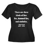 Mark Twain 18 Women's Plus Size Scoop Neck Dark T-