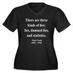 Mark Twain 18 Women's Plus Size V-Neck Dark T-Shir