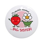 Big Sister - Strawberry Ornament (Round)