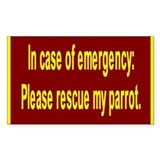 Save Parrot Rectangle Decal
