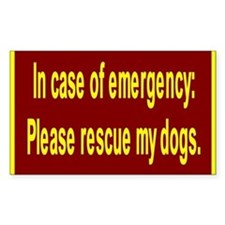 Save Dogs Rectangle Stickers