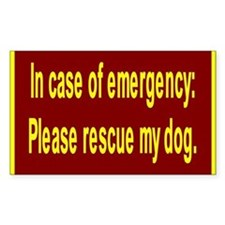 Save Dog Rectangle Stickers