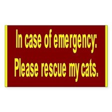 Save Cats Rectangle Decal