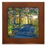 Seek his will... Framed Tile
