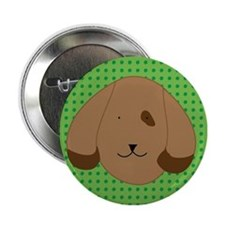 Polka dot Dog Button (10 pack)
