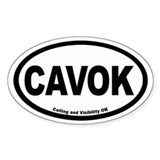 CAVOK Aviation Euro Oval Stickers