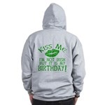 Kiss Me March 17 Birthday Zip Hoodie