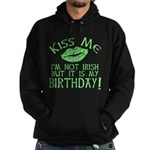 Kiss Me March 17 Birthday Hoodie (dark)