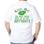 Kiss Me March 17 Birthday Golf Shirt