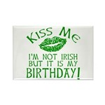 Kiss Me March 17 Birthday Rectangle Magnet (10 pac