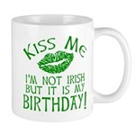 Kiss Me March 17 Birthday Mug