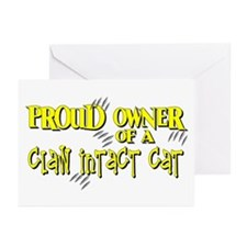 Proud Owner - Claw Intact Cat Greeting Cards (Pk o