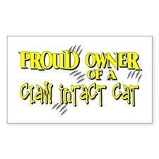 Proud Owner - Claw Intact Cat Rectangle Decal