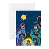 Chimpmas Nativity Greeting Cards (Pk of 10)