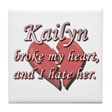 Kailyn broke my heart and I hate her Tile Coaster