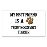 My best friend is a TEDDY ROOSEVELT TERRIER Sticke