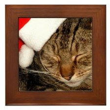 Christmas Kitty Framed Tile