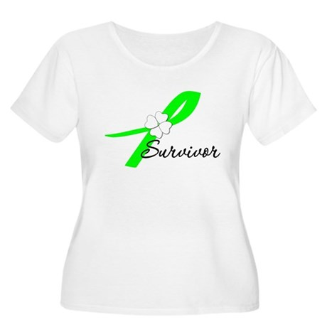Lymphoma Survivor Women's Plus Size Scoop Neck T-S