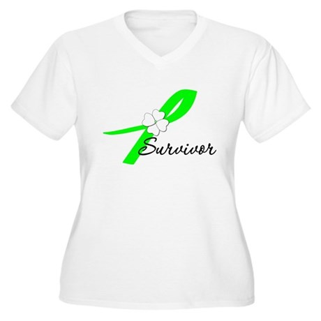 Lymphoma Survivor Women's Plus Size V-Neck T-Shirt