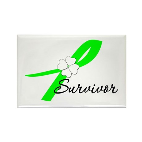 Lymphoma Survivor Rectangle Magnet (100 pack)