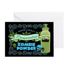 Resurrection Zombie Powder Greeting Card