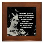 Mary Shelley Frankenstein Framed Tile