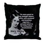Mary Shelley Frankenstein Throw Pillow