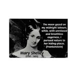 Mary Shelley Frankenstein Rectangle Magnet (100 pa