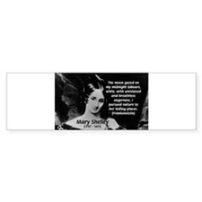 Mary Shelley Frankenstein Bumper Bumper Sticker