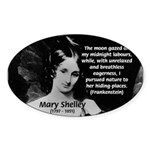 Mary Shelley Frankenstein Oval Sticker