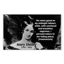Mary Shelley Frankenstein Rectangle Decal
