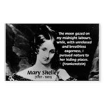 Mary Shelley Frankenstein Rectangle Sticker