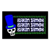 Baron Samedi Rectangle Decal
