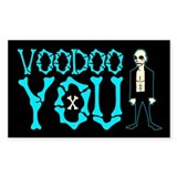 Voodoo You Rectangle Sticker 50 pk)