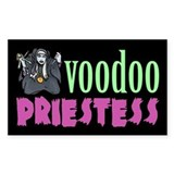 Voodoo Priestess Rectangle Decal