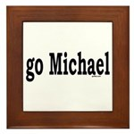 go Michael Framed Tile