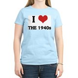 I Love The 1940s Women's Pink T-Shirt