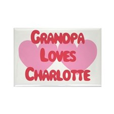 Grandpa Loves Charlotte Rectangle Magnet
