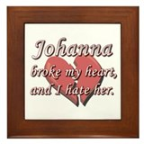 Johanna broke my heart and I hate her Framed Tile