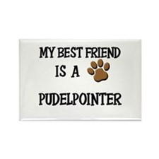 My best friend is a PUDELPOINTER Rectangle Magnet