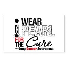 Lung Cancer Cure Rectangle Decal