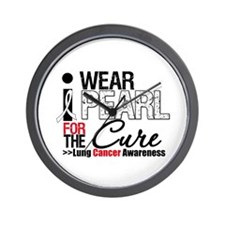 Lung Cancer Cure Wall Clock