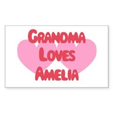 Grandma Loves Amelia Rectangle Decal