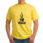 Buddha (Black) Yellow T-Shirt