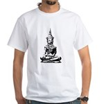 Buddha (Black) White T-Shirt