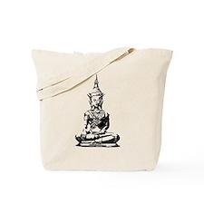 Buddha (Black) Tote Bag
