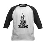 Buddha (Black) Kids Baseball Jersey